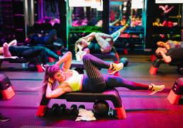 BMF member, Kelley Marine, taking a core workout